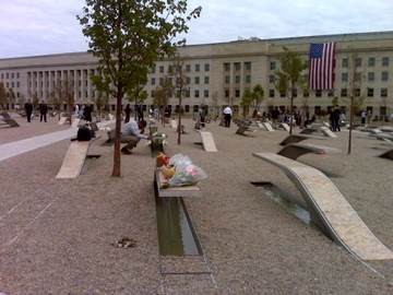 (The Pentagon following the dedication of the Memorial on September 11, 2008)
