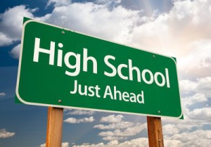 high school sign sm
